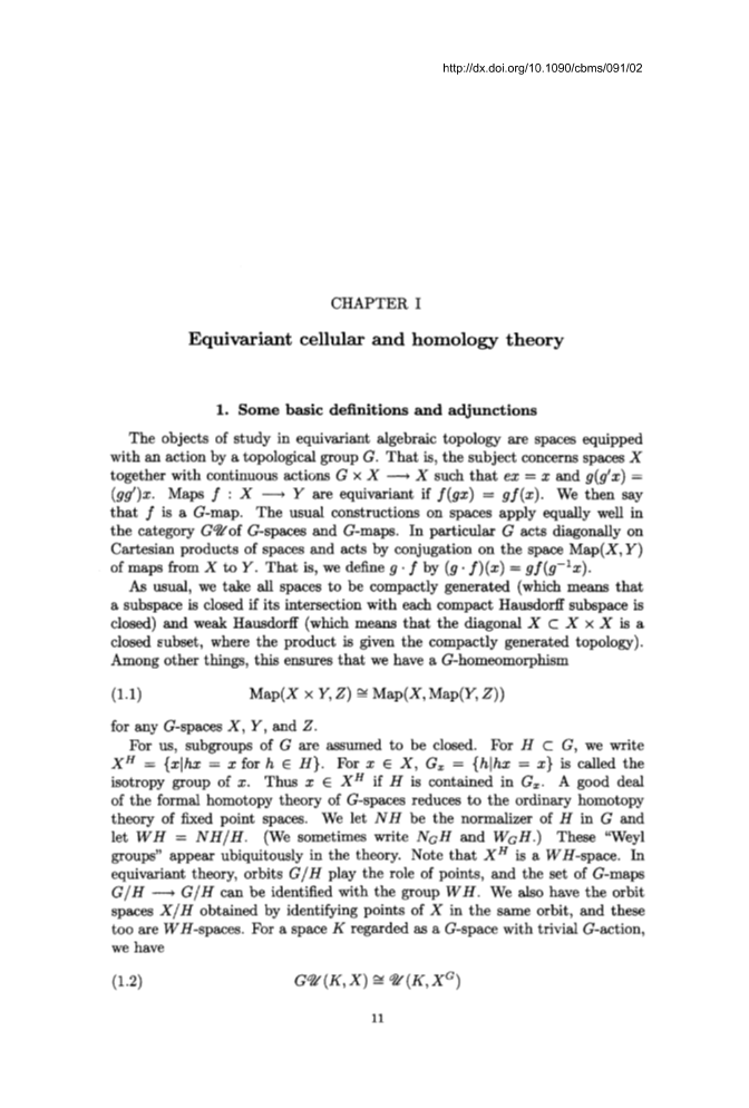 Equivariant Homotopy And Cohomology Theory Page 11